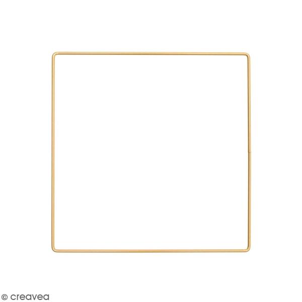 Anneau en métal carré - doré - 20 cm - Photo n°1