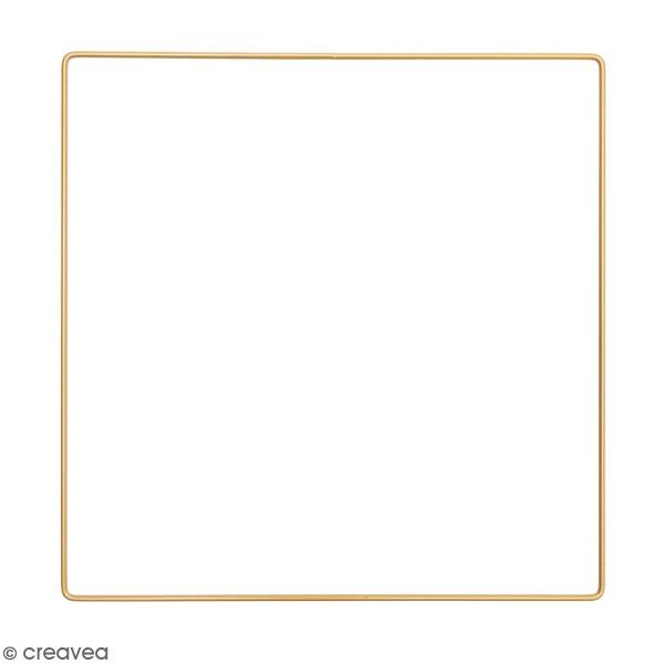 Anneau en métal carré - doré - 25 cm - Photo n°1