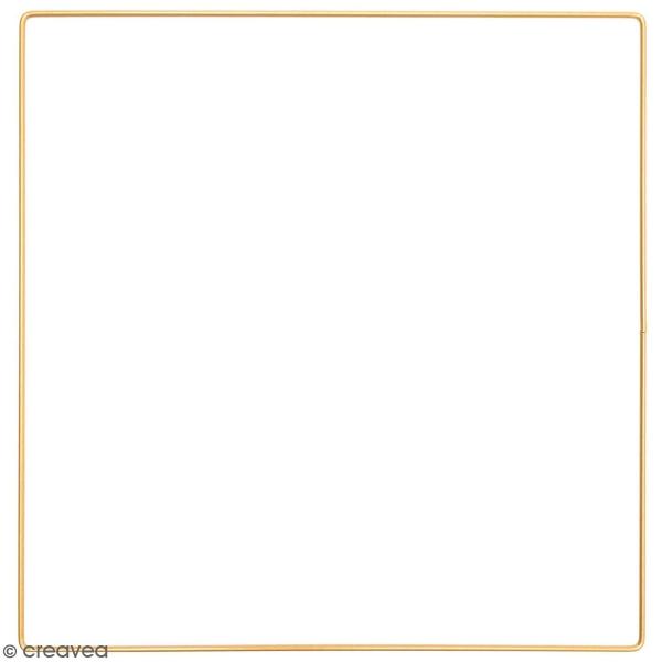 Anneau en métal carré - doré - 30 cm - Photo n°1