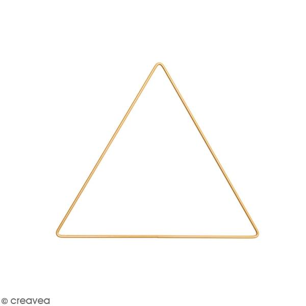 Anneau en métal Triangle - doré - 20 cm - Photo n°1