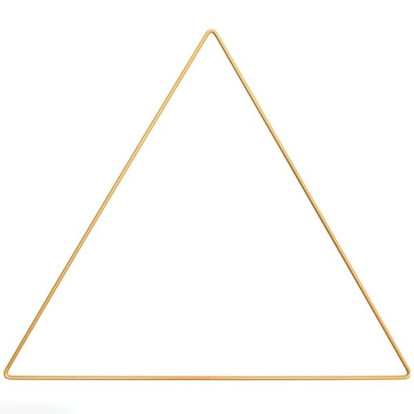 Anneau en métal Triangle - doré - 30 cm - Photo n°1