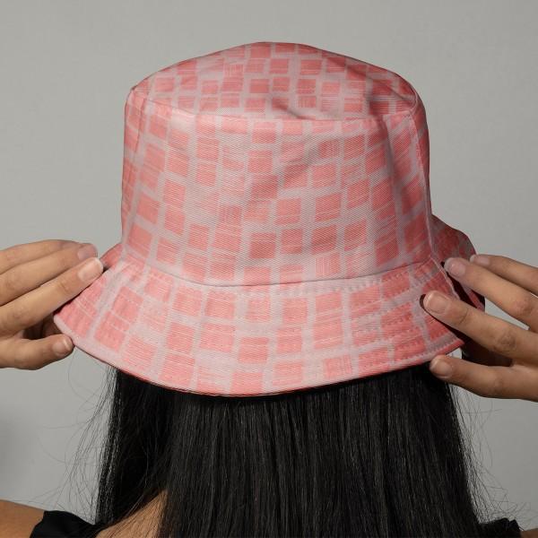 Tissu Rico - Double gaze de coton - Motifs roses sur fond mauve - Par 10 cm (sur mesure) - Photo n°2