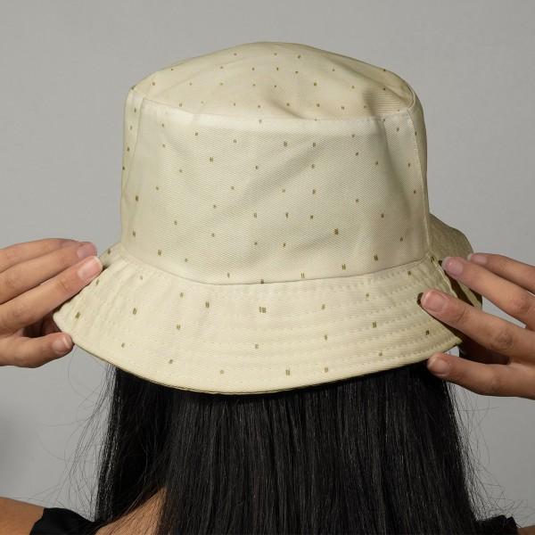 Tissu Rico - Double gaze de coton - Motifs gris sur fond jaune  - Par 10 cm (sur mesure) - Photo n°2