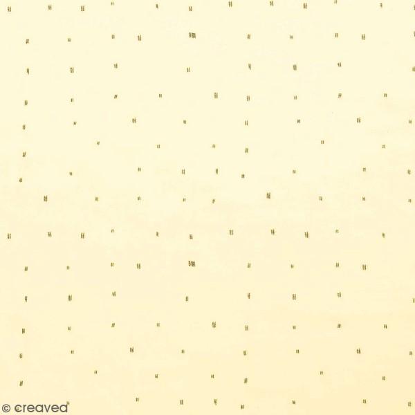 Tissu Rico - Double gaze de coton - Motifs gris sur fond jaune  - Par 10 cm (sur mesure) - Photo n°1