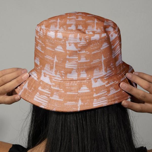 Tissu Rico - Double gaze de coton - Motifs camel sur fond rose clair - Par 10 cm (sur mesure) - Photo n°2