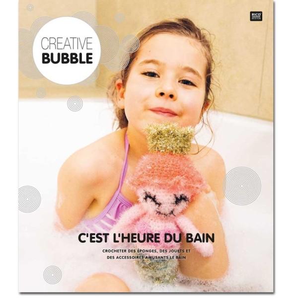 Livre Creative Bubble Eponges à crocheter - C'est l'heure du bain - 21 x 24 cm - Photo n°1