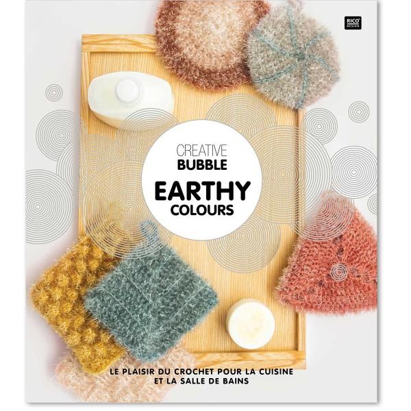 Livre Creative Bubble Eponges à crocheter - Earthy Colours - 21 x 24 cm - Photo n°1