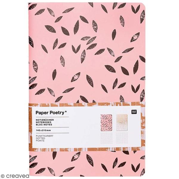 Carnets Bloc-Notes - Rose et gris - A5 - 2 pcs - Photo n°1
