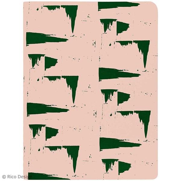 Carnets Bloc-Notes - Rose et gris - A6 - 2 pcs - Photo n°3