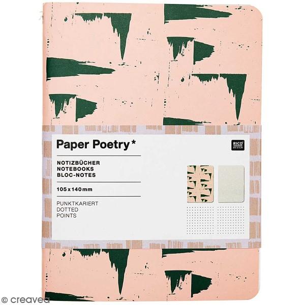 Carnets Bloc-Notes - Rose et gris - A6 - 2 pcs - Photo n°1
