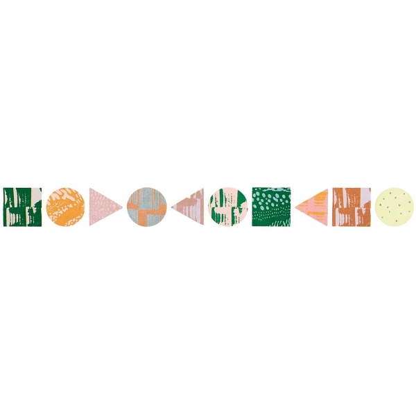 Rouleau stickers washi tape Rico Design - Eléments géométriques - 200 pcs - Photo n°1