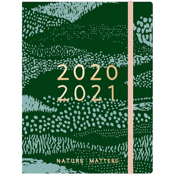 Petit agenda 2020 / 2021 - Vert - 17 mois - Photo n°1