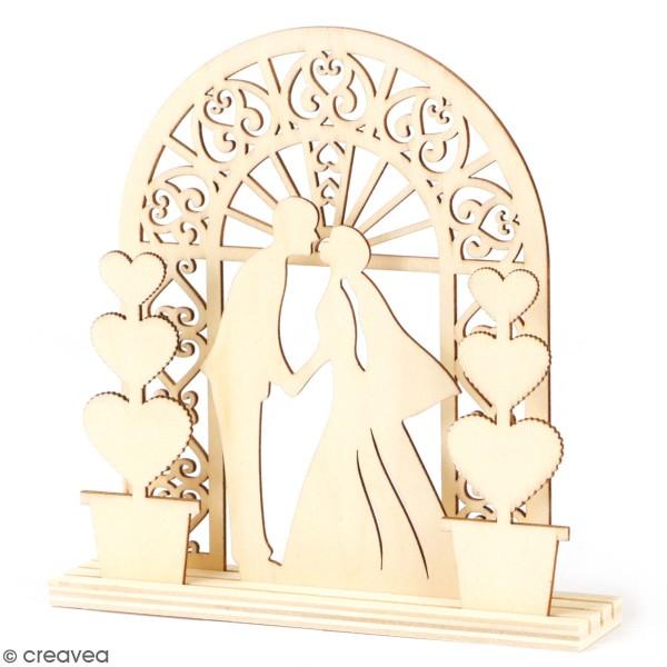 Arche de mariage en bois à monter - 14,8 x 18 cm - Photo n°1