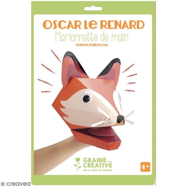 Kit marionnette de main en carton - Renard - Photo n°1