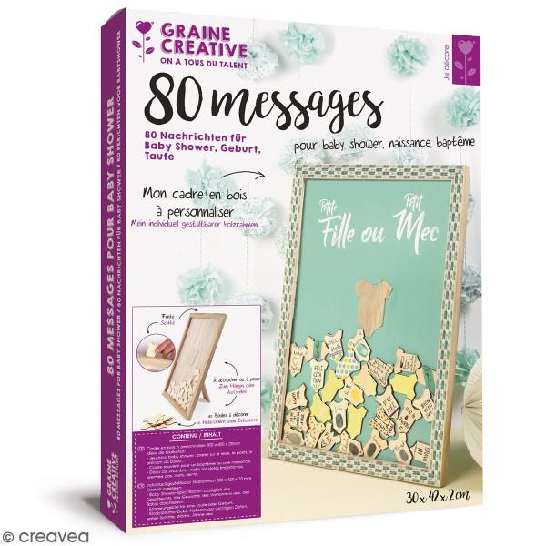 Kit cadre à messages à personnaliser - Naissance Baby Shower - 30 x 42 cm - Photo n°1