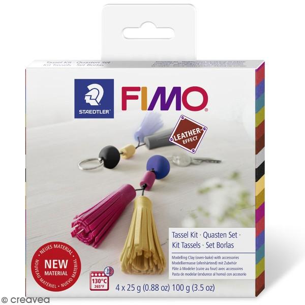 Kit DIY Fimo cuir - Pampilles - Photo n°1
