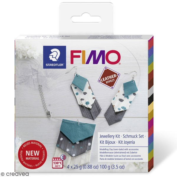 Kit DIY Fimo cuir - Bijoux - Photo n°1