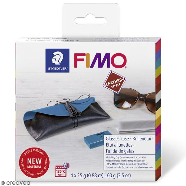 Kit DIY Fimo cuir - Etui à lunettes - Photo n°1