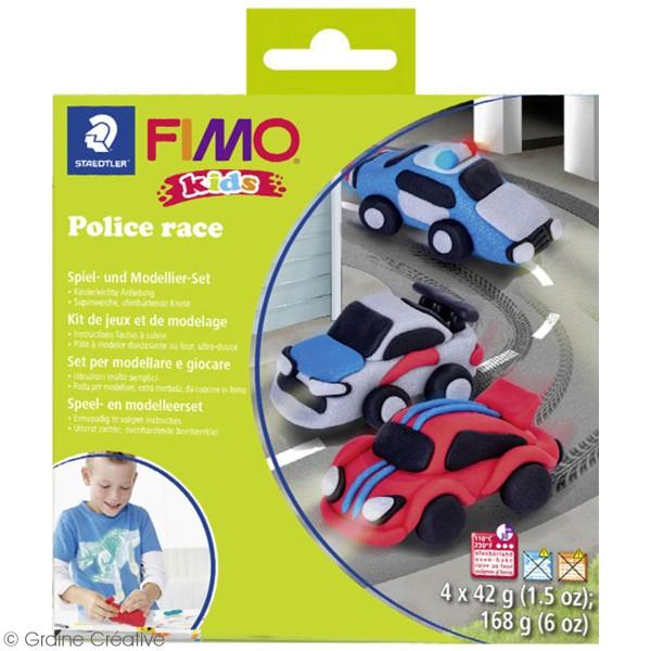 Kit pâte Fimo Kids - Course de police - Photo n°2