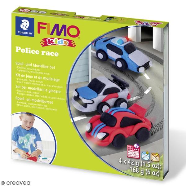 Kit pâte Fimo Kids - Course de police - Photo n°1