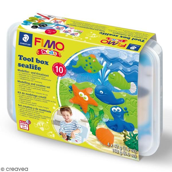 Kit pâte Fimo Kids - La vie marine - Photo n°1