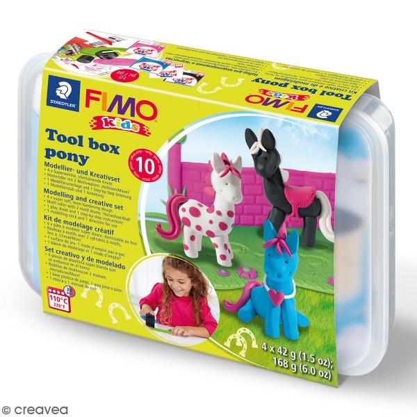 Kit pâte Fimo Kids - Poneys - Photo n°1