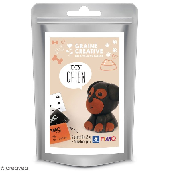Mini Kit figurine Fimo - Chien - Photo n°1