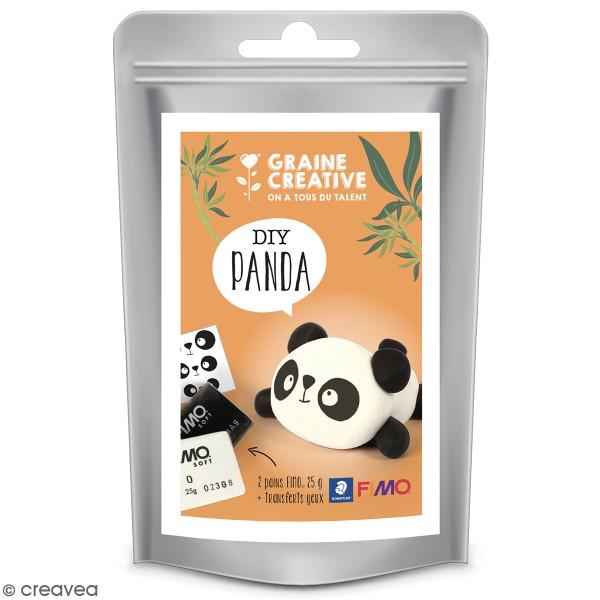 Mini Kit figurine Fimo - Panda - Photo n°1