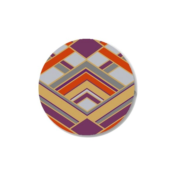 2 Cabochons 16 mm, Verre, Art Deco Violet 3 - Photo n°1