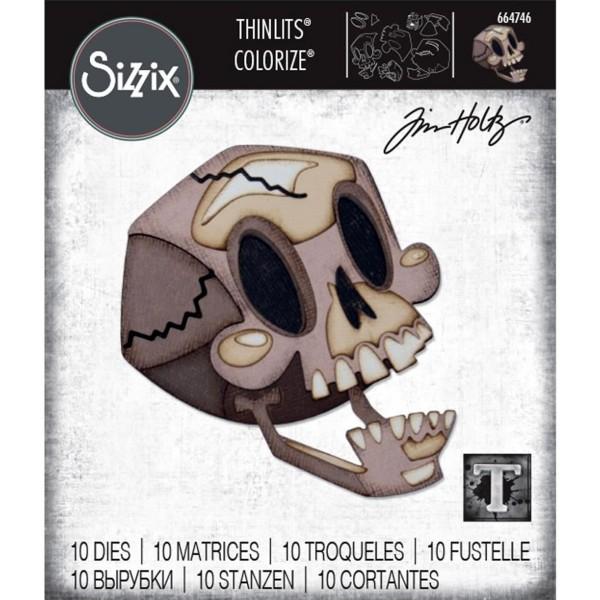 Set de matrice Sizzix Thinlits Colorize - Tête de mort - Photo n°2