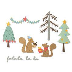 Set de matrice Sizzix Thinlits - Écureuils de Noël