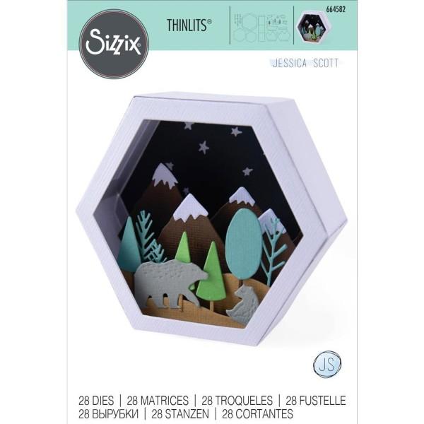 Set de matrice Sizzix Thinlits - Boîte 3D scène d'hiver - Photo n°2