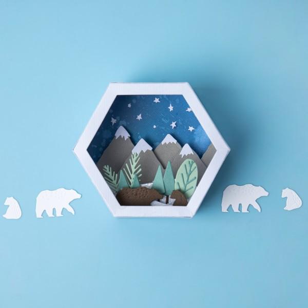 Set de matrice Sizzix Thinlits - Boîte 3D scène d'hiver - Photo n°3