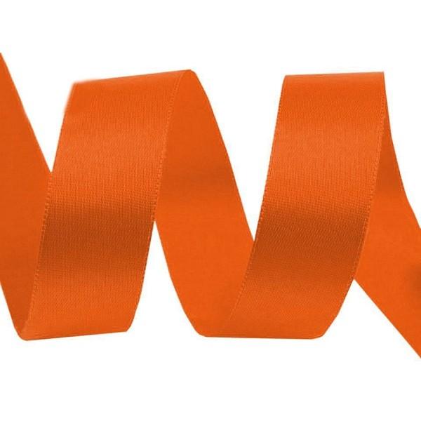 20m 248 Orange Double Face Ruban de Satin Largeur 24mm, Rubans - Unique de la Couleur, de la Merceri - Photo n°1