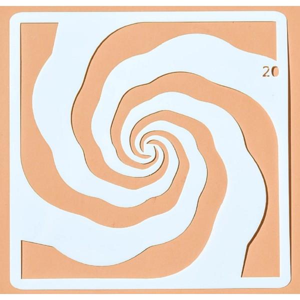 POCHOIR PLASTIQUE 13*13cm : vague (02) - Photo n°1
