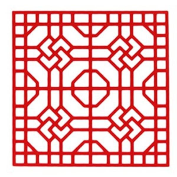 POCHOIR PLASTIQUE 20*20cm : motif fantaisie (60) - Photo n°1