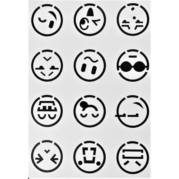 POCHOIR PLASTIQUE 26*17cm : Smiley (02) - Photo n°1