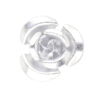 10 Perles Fleurs 6mm Argent