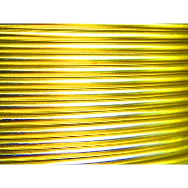 1 Mètre fil aluminium jaune soleil 2mm Oasis ® - Photo n°1