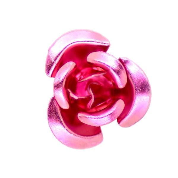 5 x Perle Fleur Drawbench Magenta 33mm