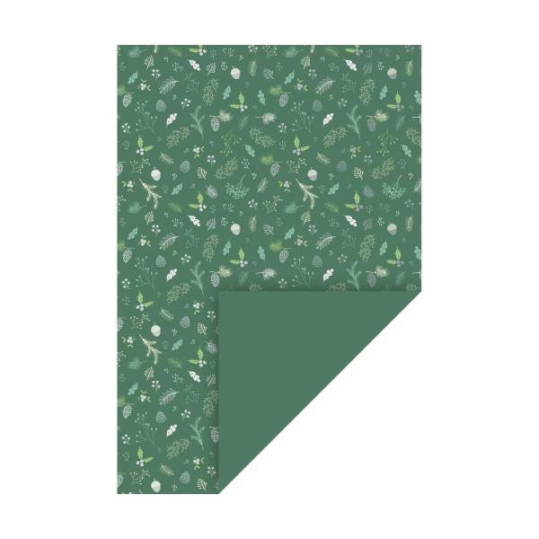 10 Morceaux De Carton A4 200 Grammes Gui Vert / Argent, Fond En Papier, Papier D'Art, Papier D'Art J - Photo n°1
