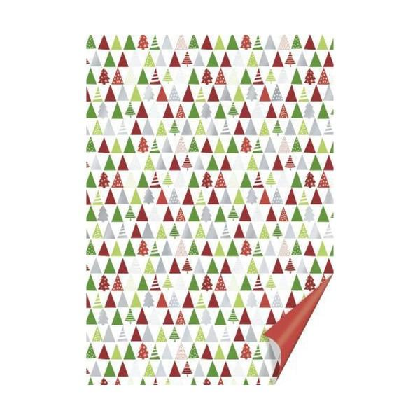 10 Morceaux De Carton A4 200 Grammes Arbres Rouge / Vert, Fond En Papier, Papier D'Art, Papier D'Art - Photo n°1