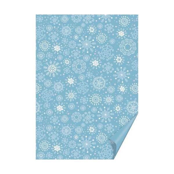 10 Morceaux De Carton A4 200 Grammes De Flocons Bleu / Argent, Fond En Papier, Papier D'Art, Papier - Photo n°1