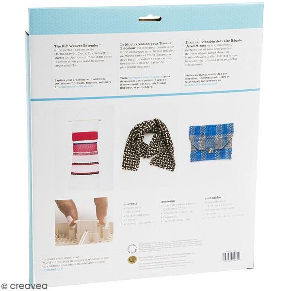 Kit d'extension pour métier à tisser modulable Martha Stewart - 54 pcs - Photo n°2