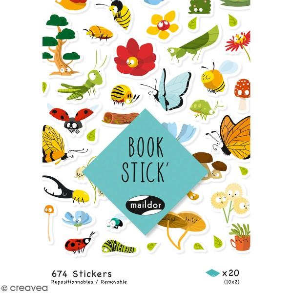 Autocollants Book Stick A6 - Botanique - 674 pcs - Photo n°1