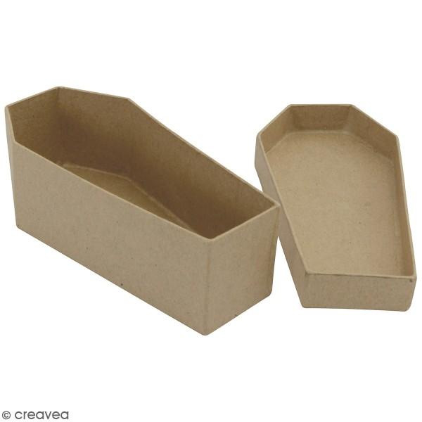 Boîte Cercueil en papier mâché - 12,5 x 6 cm - Photo n°1