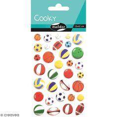 Stickers Fantaisie Cooky - Ballons - 1 planche 7,5 x 12 cm