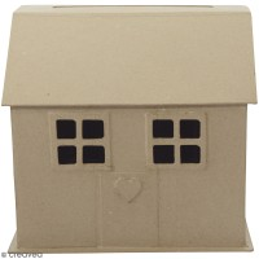 Urne maison en papier mâché - 26 x 24,5 x 15 cm
