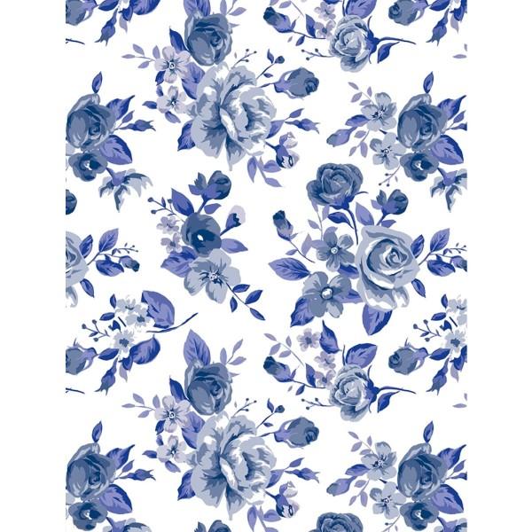Décopatch Fleurs bleues 811 - 1 feuille - Photo n°1