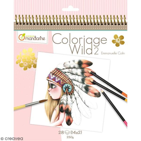 Carnet de coloriage collector Wild 2 - 28 visages à colorier - Photo n°1